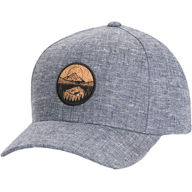 tentree Lake Cork Patch Hemp Elevation Hat, dark ocean blue heather